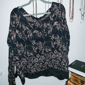 Free People Women's Boat Neck Sweater Size M